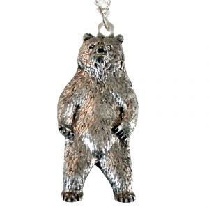Standing bear necklace 1594