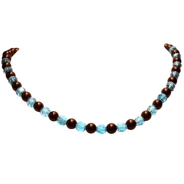 Black and blue nead necklace 398-2