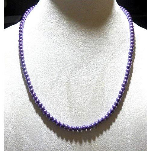 Violet Glass Beaded Necklace 1543