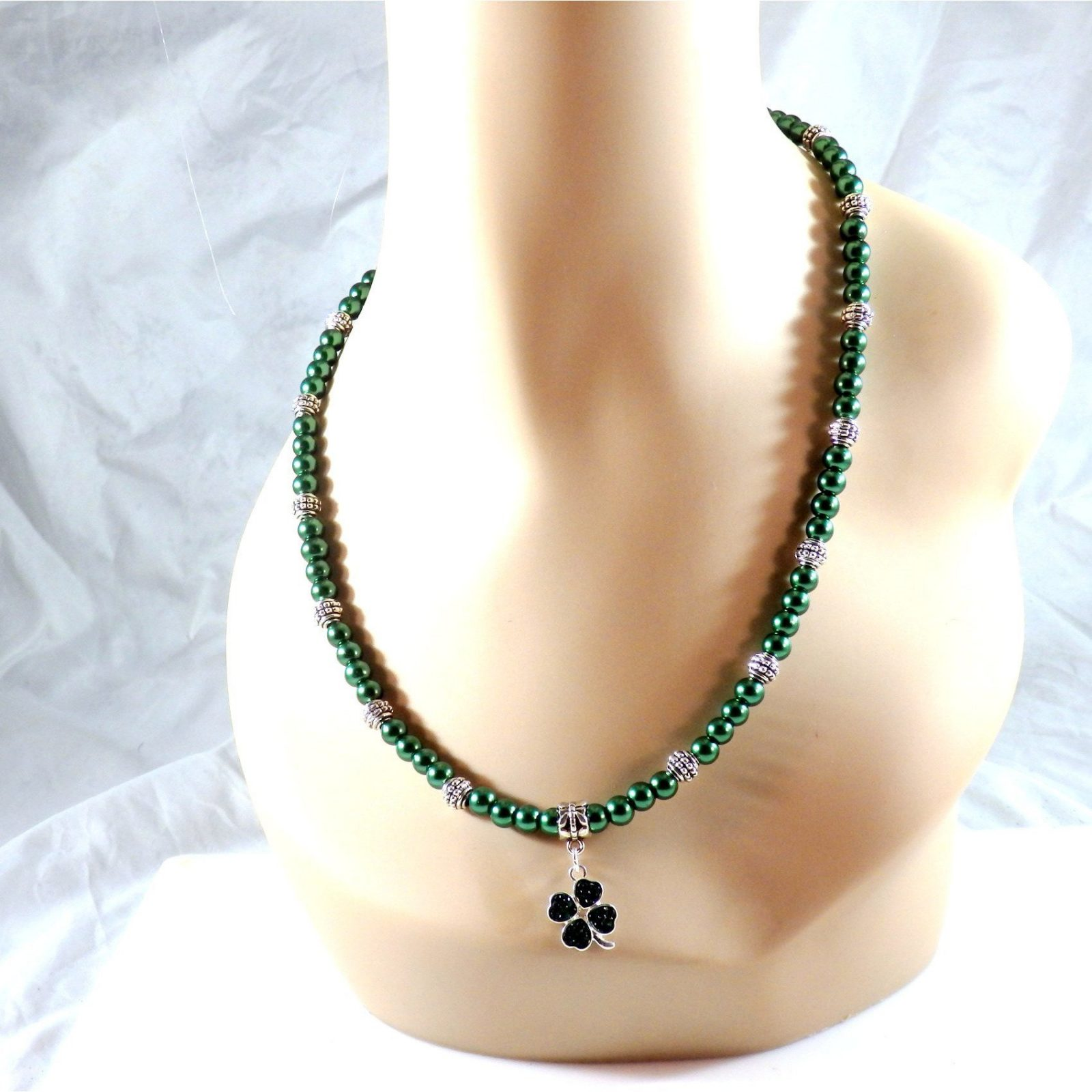 Lucky Charm Beaded Glass Necklace 867