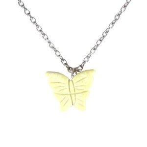 Yellow gemstone butterfly necklace 1766