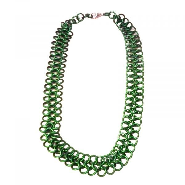 Green European 4 In 1 Chain Mail  Choker Necklace 1268