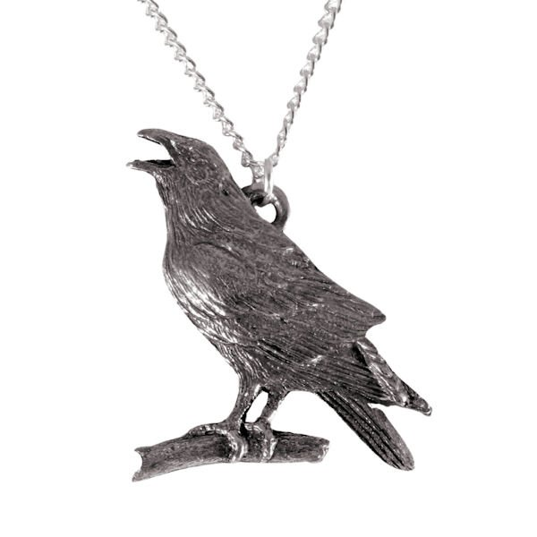 1678 Crow or raven necklace 1