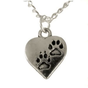 Pawprints on my heart necklace 1701