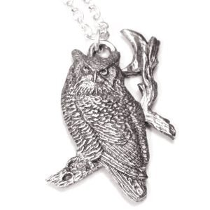 1354 Owl and moon necklace 4