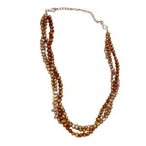 3 color pearl necklace 863